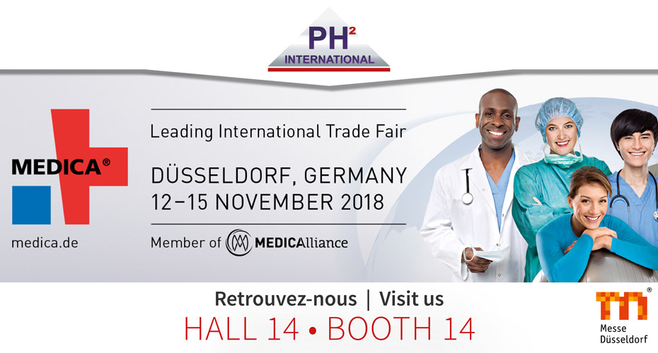 MEDICA 2018 (Hall 14 – Stand 14) – PH² International